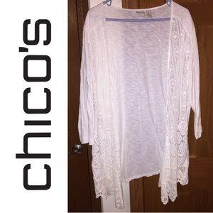NWOT Size 4 Chico's Zenergy Lace Front Cardigan